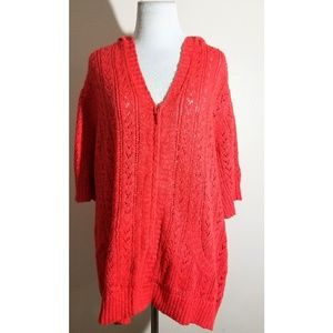 NWT Coldwater Creek Crochet Hooded Sweater